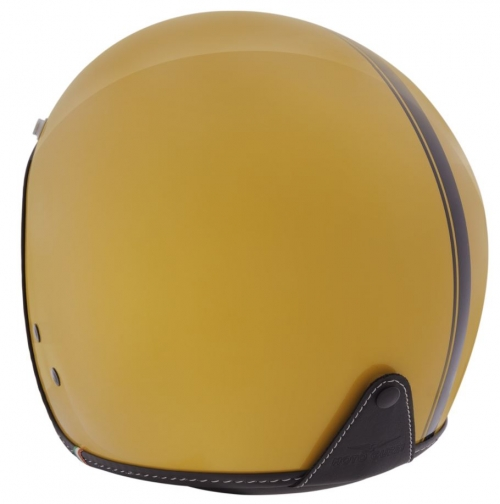 HELMET MG DECAL YELLOW MOTO GUZZI
