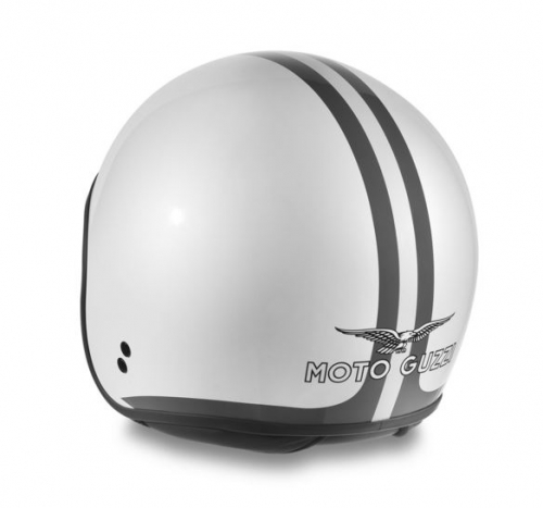 CASCO WHITE STRIPES MOTO GUZZI