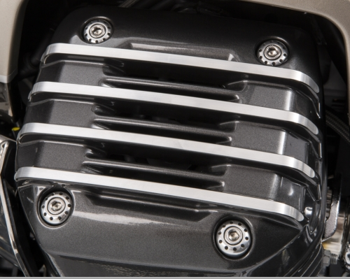 PAINTED CYLINDER HEAD COVERS - GREY MOTO GUZZI
