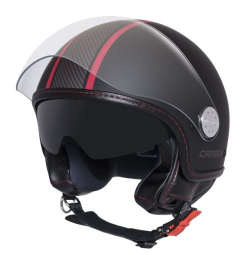 MG CARBONLOOK HELMET MOTO GUZZI