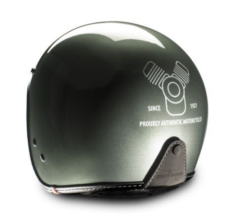 CASCO MG DECAL VERDE MOTO GUZZI